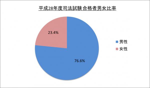 平成28年度司法試験合格者男女比率_28