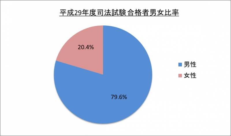 平成29年度司法試験合格者男女比率_29