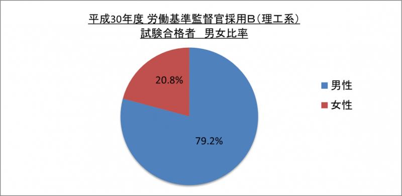 平成30年度労働基準監督官採用B(理工系)試験合格者男女比率_29