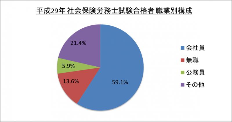平成29年社会保険労務士試験合格者職業別構成_29